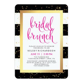 Bridal Brunch | Black White Gold and Pink Shower Card