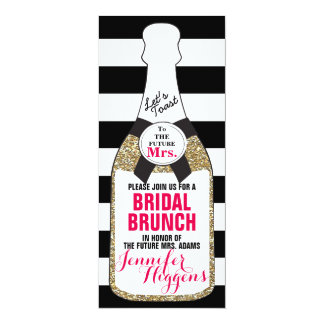 Bridal Brunch Bridal Shower Invitation Champagne