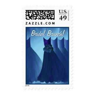 Bridal Brunch Hues of Blue Postage Stamp
