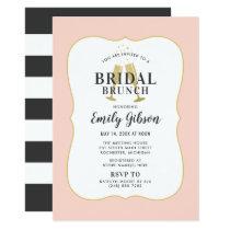 Bridal Brunch Invitation | Blush Champagne Toast