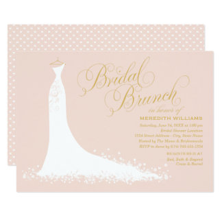 Bridal Brunch Invitation | Elegant Wedding Gown