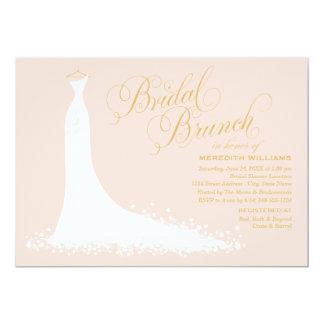 Bridal Brunch Invitation   Elegant Wedding Gown