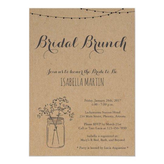 bridal brunch invitation on kraft background zazzle com