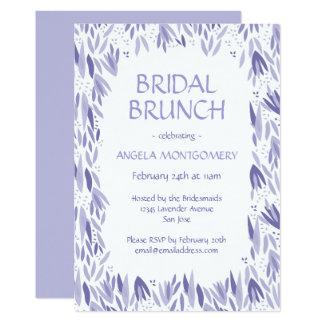 Bridal Brunch Lavender Leaves Pattern Card