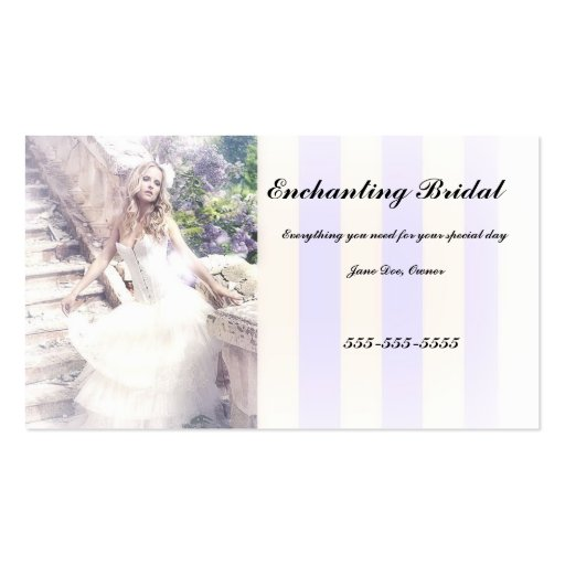bridal business cards