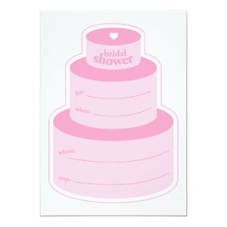 Bridal cake invite