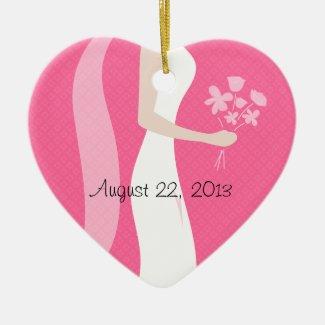 Bridal Ceramic Ornament