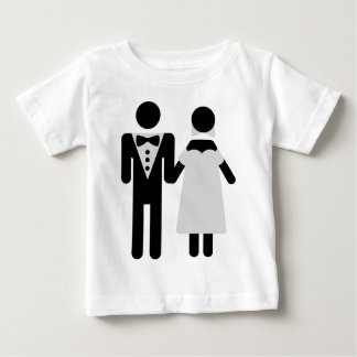 bridal couple icon t shirt