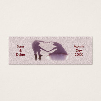 Bridal Couple & Shadow Heart Skinny Registry Cards