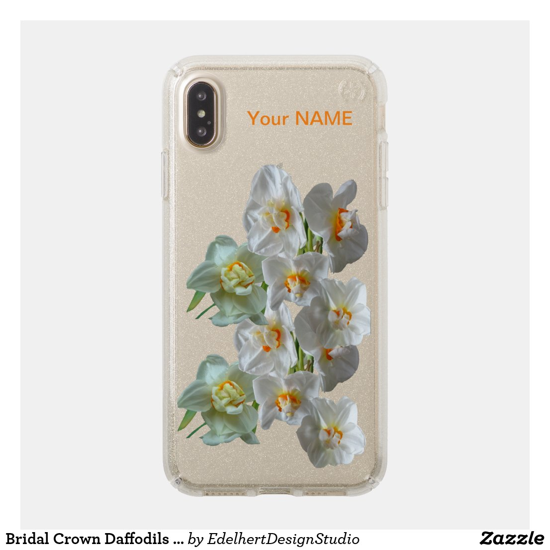 Bridal Crown Daffodils Glitter Speck Phone Case