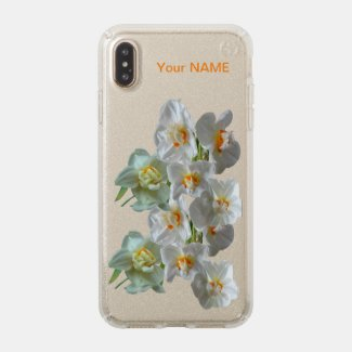 Bridal Crown Daffodils Glitter Speck Phone Case