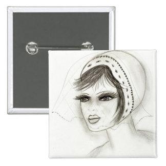 Bridal Deco Girl Button