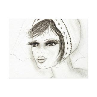 Bridal Deco Girl Canvas Print