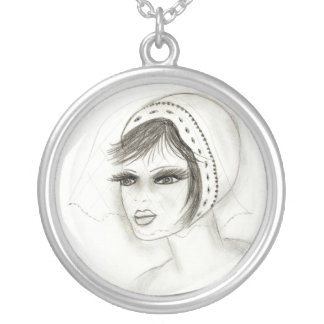 Bridal Deco Girl Silver Plated Necklace