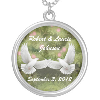 Bridal Doves Personalized Necklace