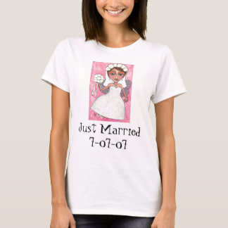 Bridal Fairy & Roses - Just Married t-shirt