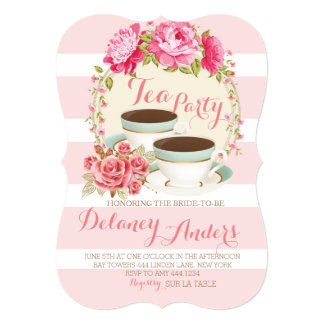 Bridal Floral Tea Party Invitations