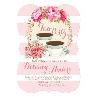 Bridal Floral Tea Party Invitations