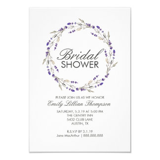 Bridal Floral Wreath Shower Invite