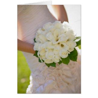 Bridal flowers bouquet card