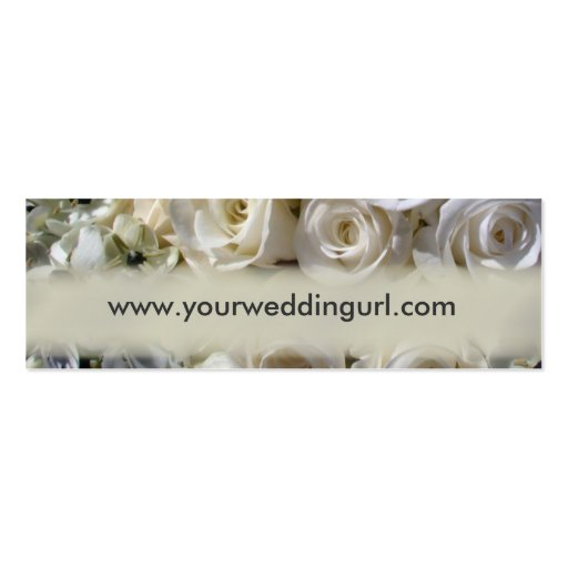 Bridal gift cards - add your wedding website Double-Sided mini business cards (Pack of 20)