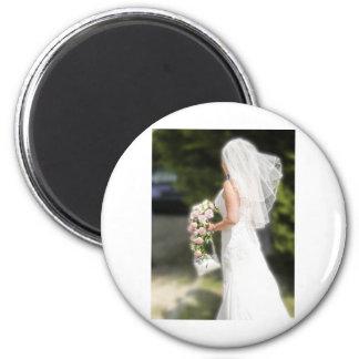 Bridal Gown 2 Inch Round Magnet