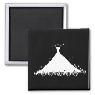 Bridal Gown 2 Inch Square Magnet