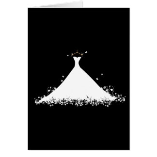 Bridal Gown Stationery Note Card