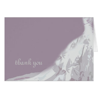 Bridal Gown Thank You Card, lavender
