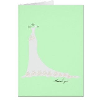 Bridal Gown Thank You Notes {Mint Green}