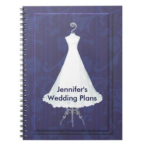 Bridal Gown Wedding Planner Notebook