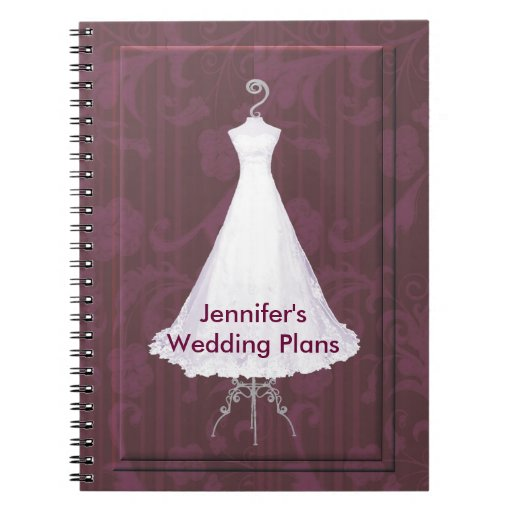Bridal gown wedding planner notebook zazzle for The notebook wedding dress