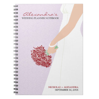 Bridal Gown Wedding Planner Notebook (lilac)