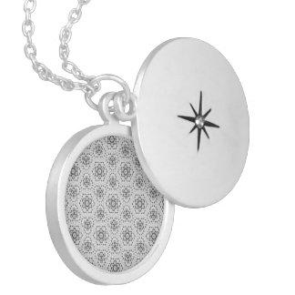 bridal lace 2 round locket necklace