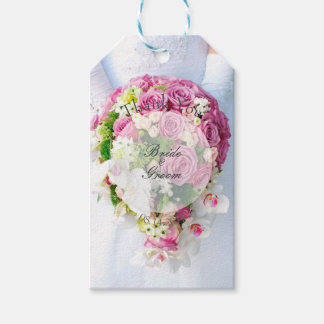 Bridal Lace Flower Bouquet Wedding Gift Tags