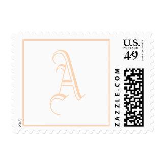 Bridal Letter Cute Peach Puff Stamp
