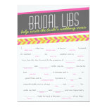 Bridal Libs Bachelorette Party Game Card (neon)