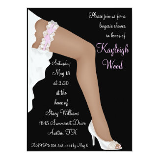 Bridal Lingerie Shower Personalized Ethnic 5.5x7.5 Paper Invitation Card