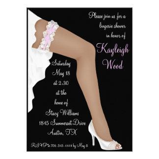 Bridal Lingerie Shower Personalized Ethnic Personalized Invitation