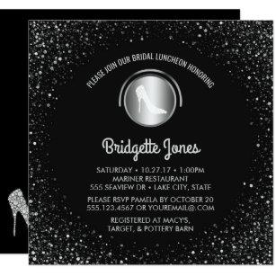 High heel shoes bridal shower invitations zazzle bridal luncheon high heel shoe chic bridal shower invitation filmwisefo