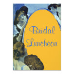 "Bridal Luncheon Invites Elegant Chic Vintage Look 5"" X 7"" Invitation Card"