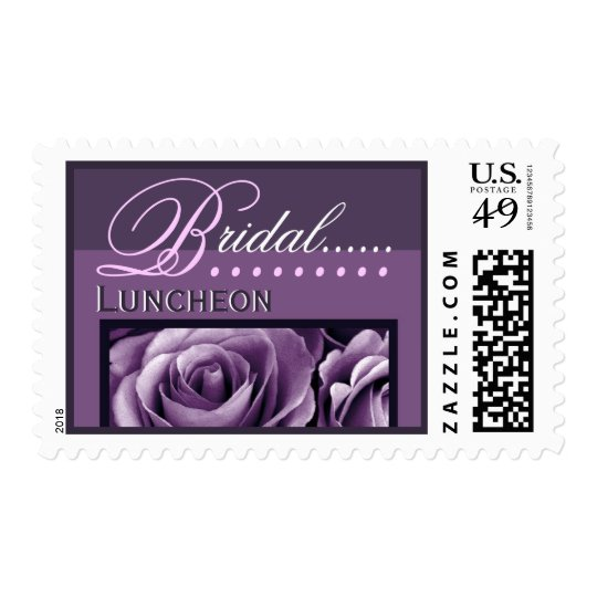 BRIDAL Luncheon - Shades of Purple - Roses Postage