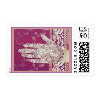Bridal Mehndi Purple Postage - 2