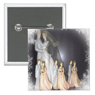 Bridal Memories 2 Inch Square Button