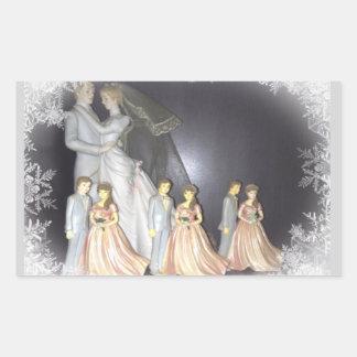 Bridal Memories Rectangular Sticker