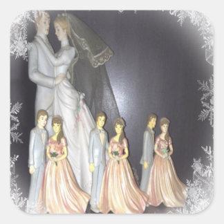 Bridal Memories Square Sticker