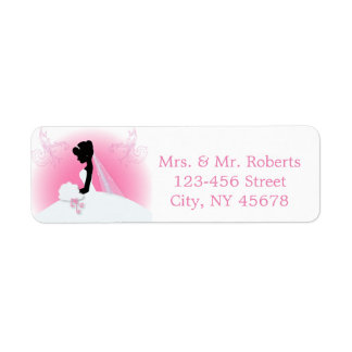 Bridal Mrs Right Pink bride silhouette Label