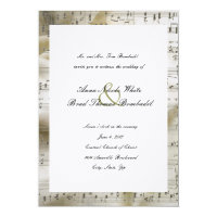 Bridal Music Wedding Invitation