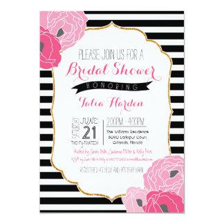 Bridal or Baby Shower Invitation Bold Stripe Pink