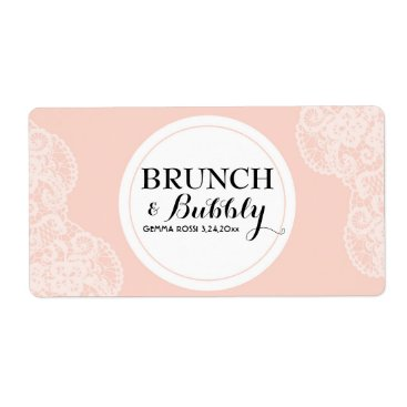Toddler & Baby themed Bridal or Baby Shower Lace Mini Champagne Label